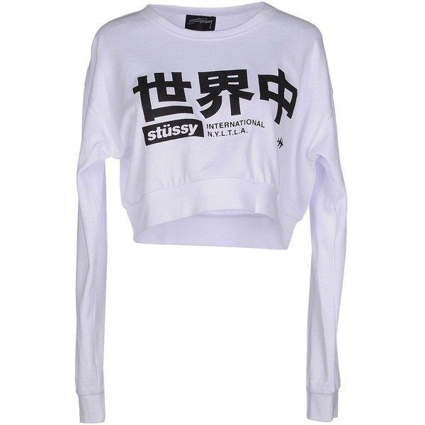 STUSSY Sweatshirt ($58) ❤ liked on Polyvore featuring tops, hoodies, sweatshirts, stussy sweatshirt, stussy, sweat tops, sweatshirts hoodies and sweat shirts