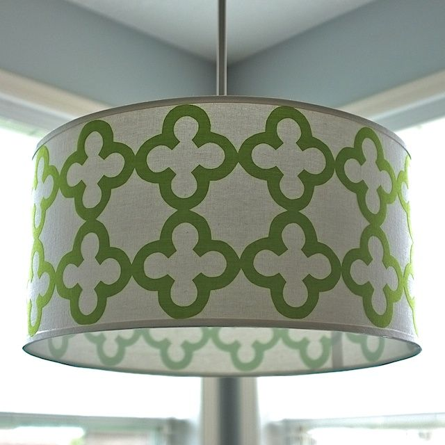 Today I Want To Share A Tutorial To Turn A Plain Drum Shade Into A  Statement · Crafts To MakeDiy ...