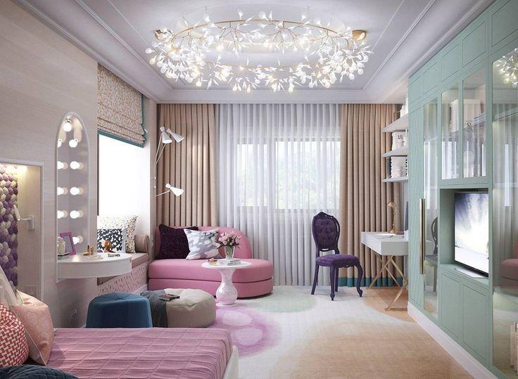 Heracleum Big O by Bertjan Pot via Moooi | www.moooi.com | #lighting #lamp #suspended #interiordesign #design #interior #pink #green #beige  #sand #girlsroom