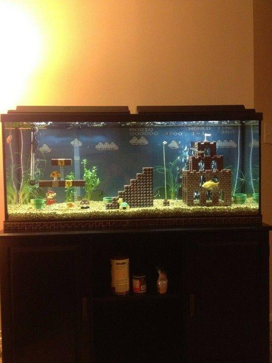 Mario Fish Tank... Need this!!
