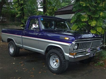75 Ford Truck Blue And Silver Two Tone Blue And Silver