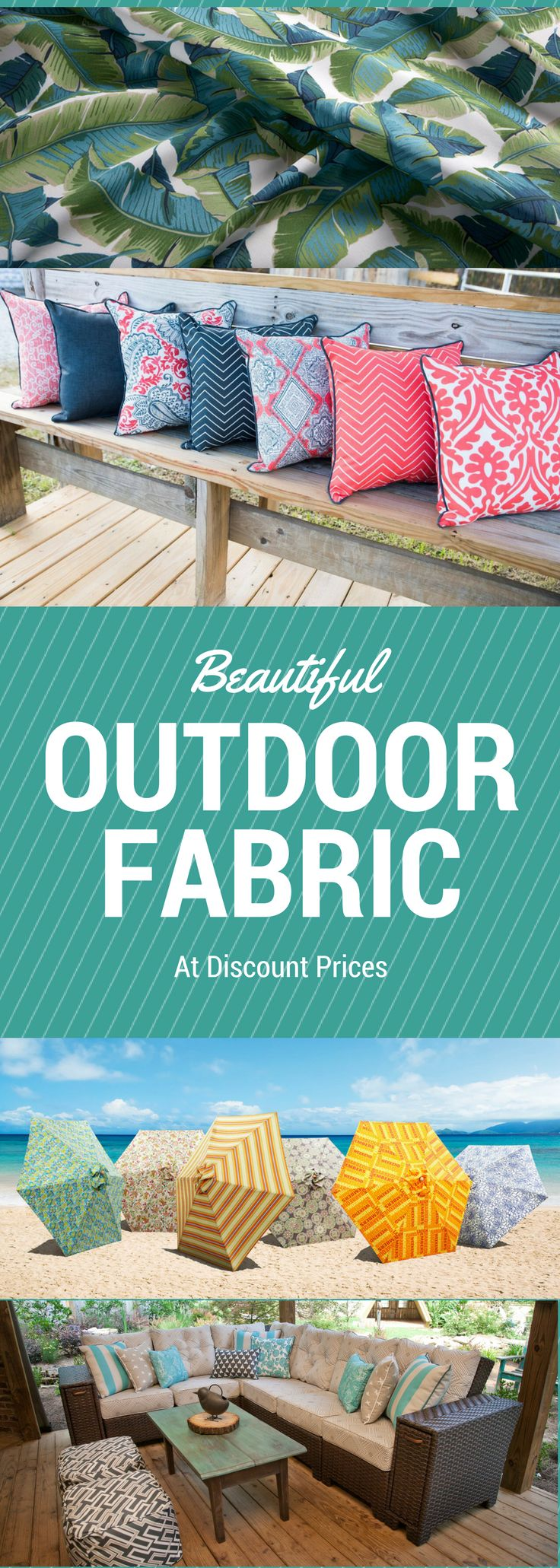 Fabricguru.com carries over 6,000 discount outdoor fabrics from all your favorite designers: Sunbrella, Bella Dura, Richloom, Premier Prints, and many more. Shop today and save!