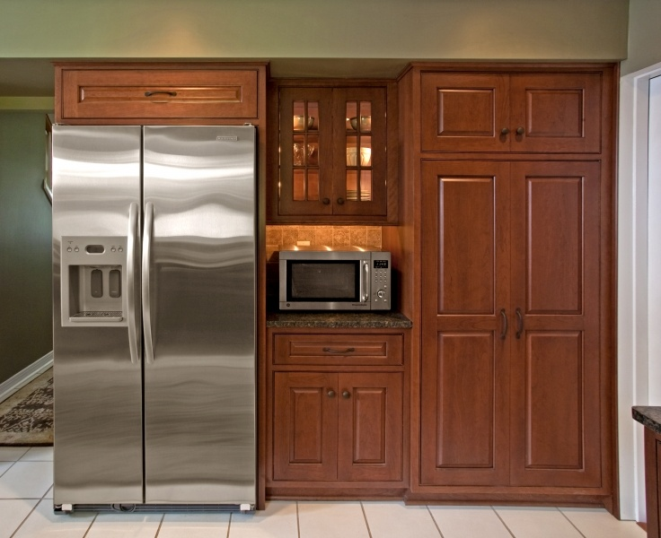 View Of Redesigned Refrigerator Area Featuring An