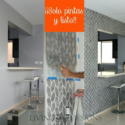 17 best images about decoracion de interiores on pinterest for Patron de papel tapiz para sala comedor