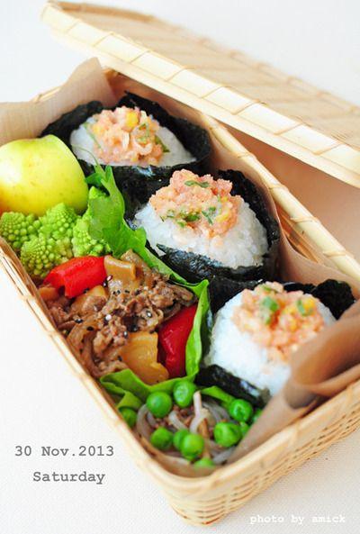 11月30日 土曜日 佐渡産コシヒカリで、たらこのネギ胡麻ナムルおむすび&ハーブ肉じゃが