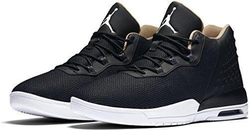 Nike Air Jordan Academy Mens Hi Top Trainers 844515 Sneakers Shoes (US 12 black white cool grey vanchetta tan 012)