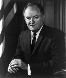 Hubert Humphrey  38th Vice President of the United States~  Born Hubert Horatio Humphrey, Jr.   May 27, 1911 Wallace, South Dakota   Died~January 13, 1978 (aged 66)   Waverly, Minnesota