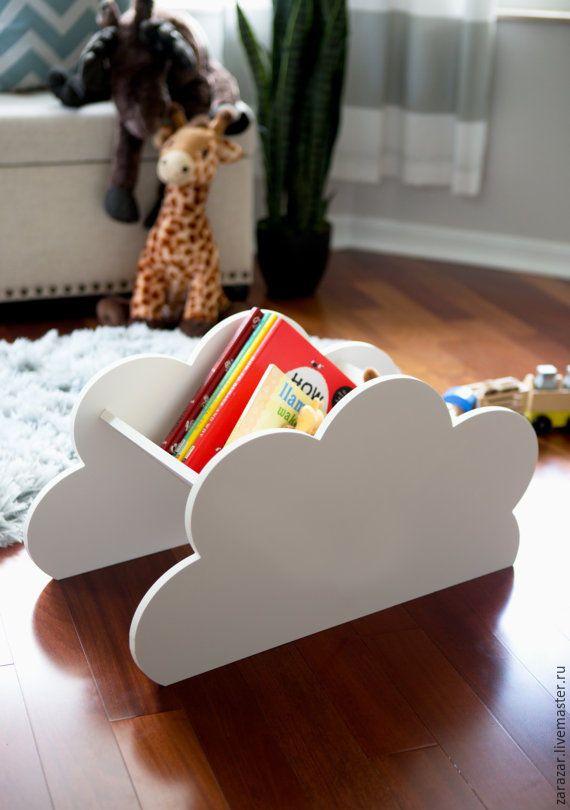 Купить Ящик в детскую Облако большой - белый, детская комната, детская мебель, ящик для игрушек