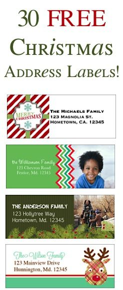 just ordered these labels for or Woodward holiday cards! only $2.89 total! LOVE!!  30 FREE Christmas Address Labels! {just pay s/h}