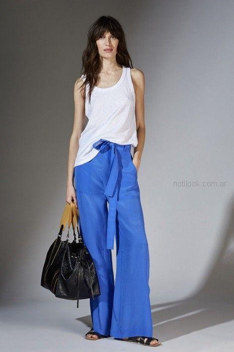 pantalon ancho palazzo azul francia Maria Cher primavera verano 2019 ... 63265318c0b