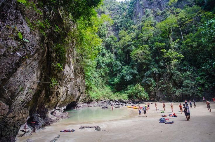 Tham Morakot - Lazurowa Grota na wyspie Ko Muk ukryta przed  światem - Tajlandia