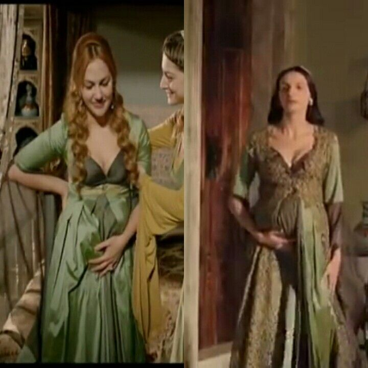 Magnificent Heritage- Green maternity (under) dress
