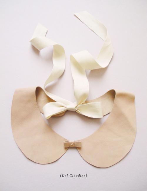 DIY Leather Peter Pan Collar