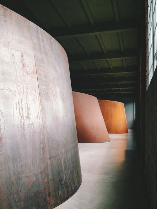 http://urbanretreatist.blogspot.com/2012/12/beacon-ny.html  Richard Serra installation. My favorite work at DIA:Beacon.