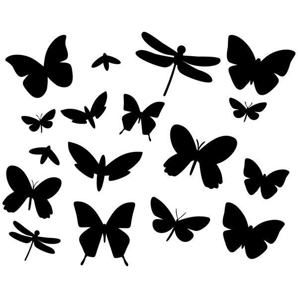 Vinilos Decorativos: Kit de 17 vinilos de insectos