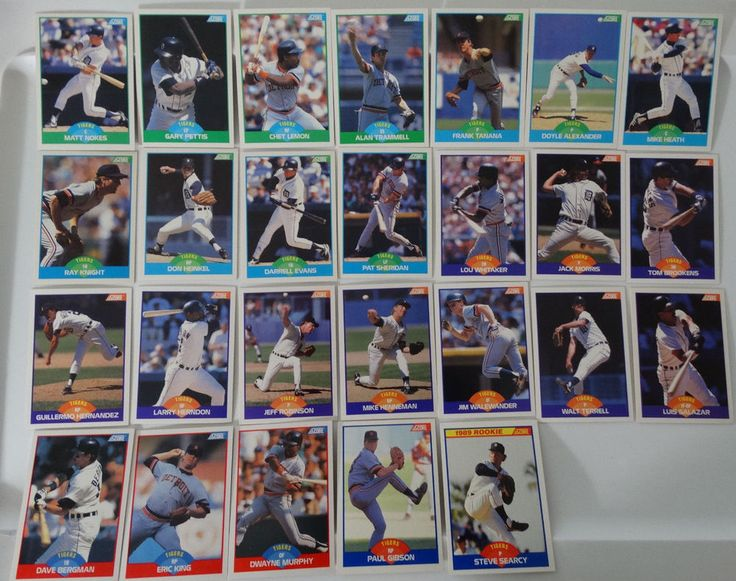 1989 Score Detroit Tigers Team Set of 26 Baseball Cards #DetroitTigers