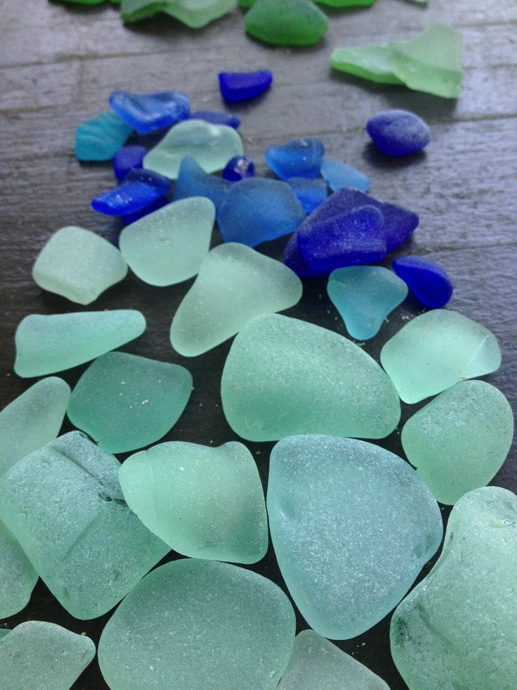 Sea glass I found on the beach in Curacao