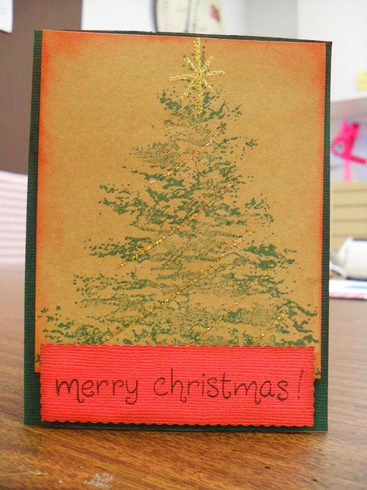 My homemade Christmas Card!Cards Ideas, Homemade Christmas Cards, Christmas Art, Christmas Christmas, Christmas Decor, Chirstmas Cards, Homemade Cards