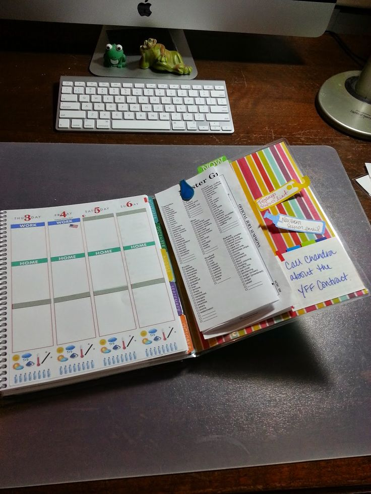 Fold out dashboard - Erin Condren Life Planner