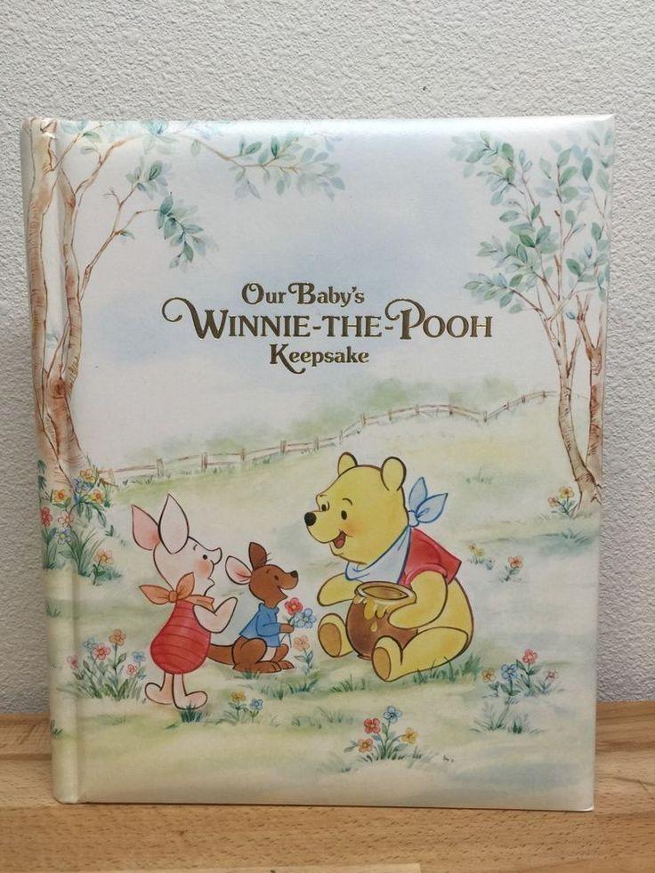 1980 Hallmark Winnie-The-Pooh Our Baby's Keepsake Book Album Vtg Piglet Eeyore #Hallmark