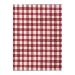 BERTA RUTA tecido a metro, verm, verm/branco axadrezado grande Largura: 150 cm Repetição do padrão: 3 cm