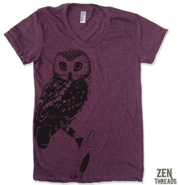 Vintage Owl T-shirt     http://www.etsy.com/listing/62188561/womens-urban-owl-vintage-soft-american?ref==