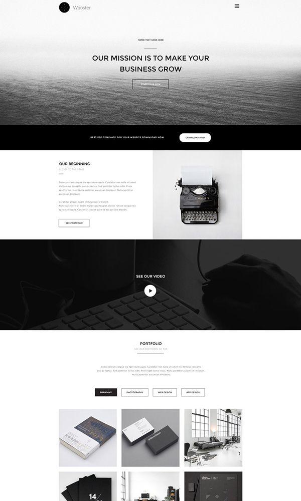 80+ Amazing Free PSD Website Templates