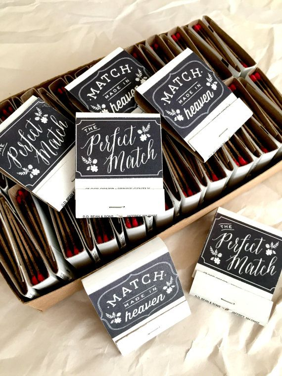 Perfect Match. Match Boxes, 50 - DIY Wedding Favors, Party Favors, Wedding Matches, Match Box Favors