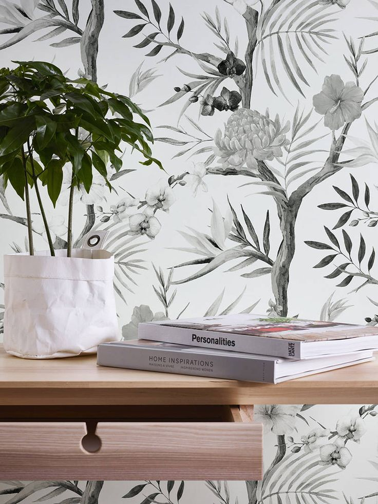 A S Création Vliestapete Dschungel Grau Schwarz Weiß