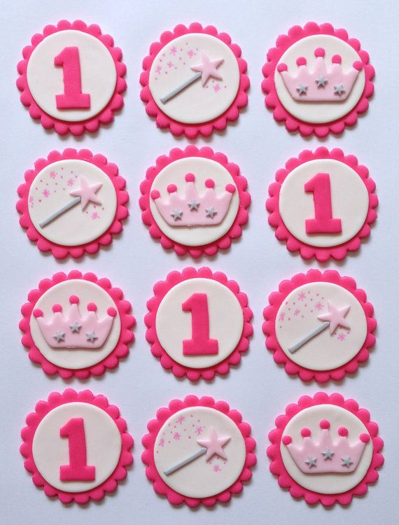 Fondant Cupcake Toppers Princess by TopItCupcakes on Etsy, $20.00