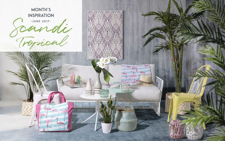 Discover Scandi Tropical, the two-become-one trend of summer! Explore the look here http://www.inart.com/en/blog/months-inspiration-scandi-tropical.html