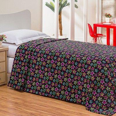 Cobertor / Manta Solteiro Estampada Estrelas - Casa Baher