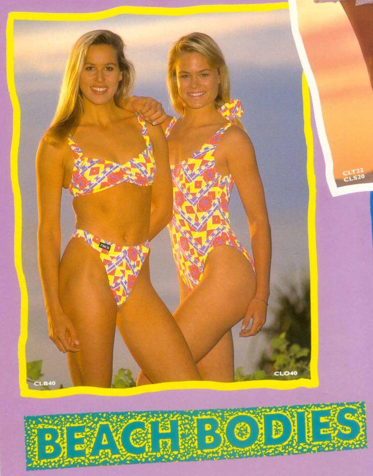 Checkout these beautiful vintage beach bodies! Finch Swim circa 1987. #vintage #swimwear #goldcoast #bikinibody