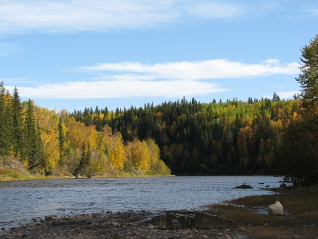 A beautiful September day on the Pembina River