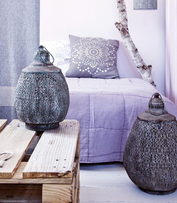 interiør, lilla, indretning