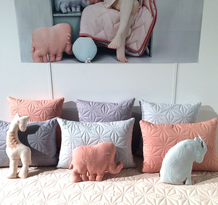 Gorgeous quilting at Camcam who focus on baby and kids bedding and soft decor at CIFF Kids