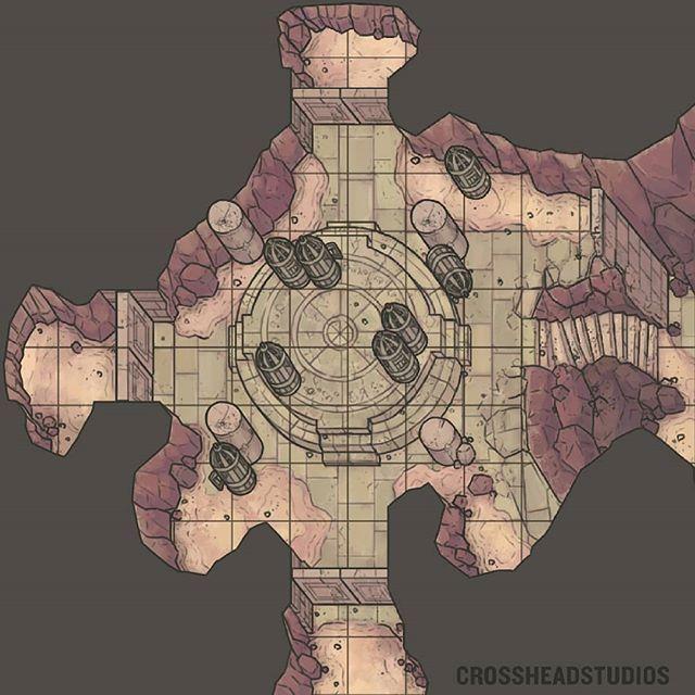CrossheadStudios Fragmented Summoning Altar Cages Battlemap