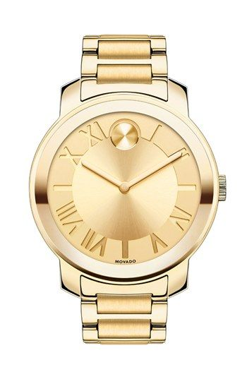Movado 'Bold' Roman Numeral Index Bracelet Watch, 39mm available at #Nordstrom