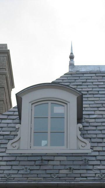 slate roof!!! dormer with corbel details