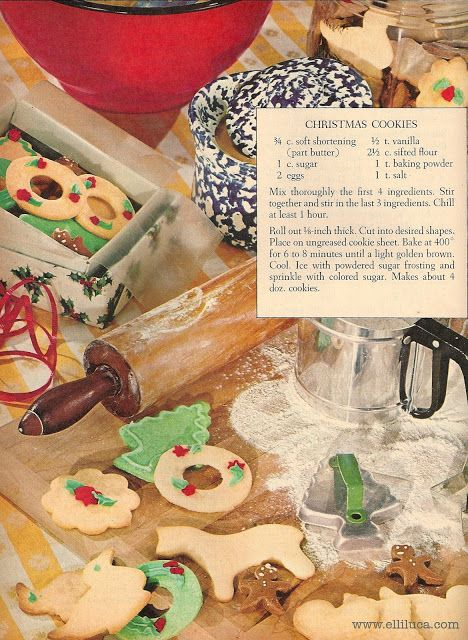 This looks like My mom's cookbook recipe. ★ Elle's Kitchen: ※ Good Old Fashioned Christmas Cookie Recipe.