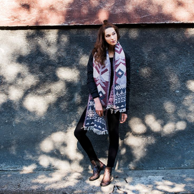 Boho scarf indian autumn. #scarf #boho Szaleo.pl | Be new fashioned & accessorized!