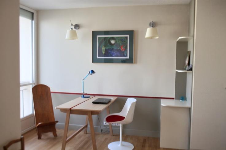 Les 25 meilleures id es de la cat gorie peinture gr ge sur pinterest murs d - Peinture pour bureau ...