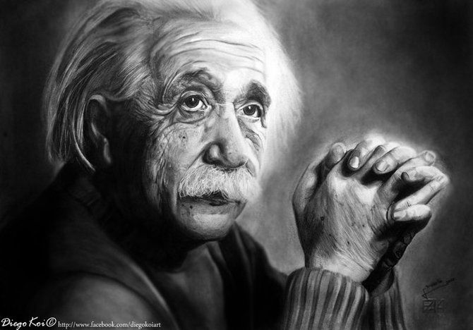 Albert einstein diego fazio pencil on paper