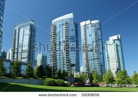 Highrises in park