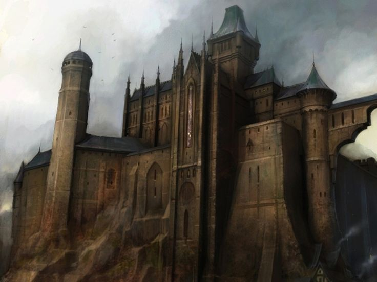 castle fantasy castles fable dark gothic medieval minecraft fantastique concept character fairfax ii chateau nice cool