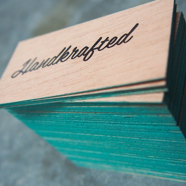 @handkraftedco's new business cards have been hand crafted to include a teal edge paint. If you're a lover of all things #handmade, check out www.handkrafted.com