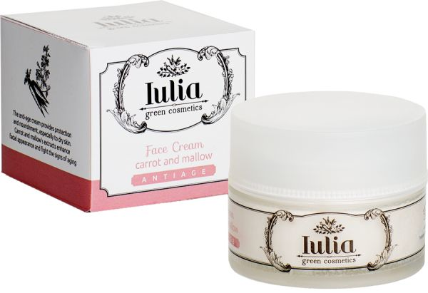 Anti-age #face #cream For all kind of skins, sensitive #skins too Delicately fragrant day/night and anti-age face cream. Its vegetable essences whose antioxidants and hydrating (carrot and mallow) properties improve the look of your skin helping dermis preventing the signs of the time.A rich blend of sweet almond oil, shea butter and vitamin E nourishes your skin in depth. E-commerce: http://iuliagreencosmetics.com/en/product/anti-age-face-cream