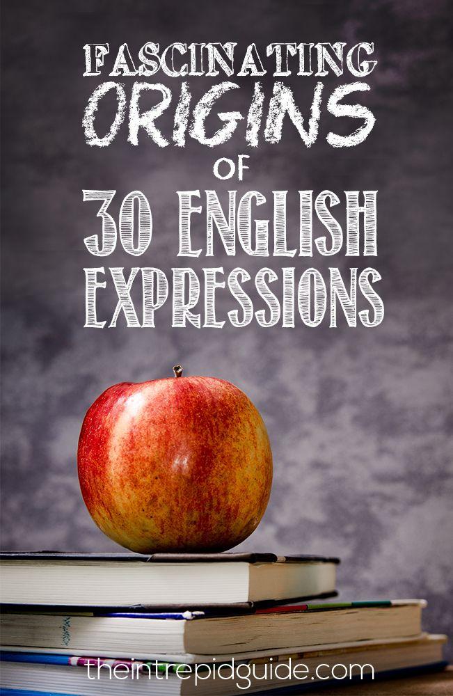 Fascinating origins of 30 English expressions! #languages #idioms #english