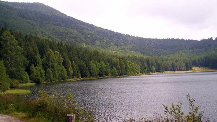 Lacul Sfanta Ana (Romania) 26 de poze incredibile cu lacurile de crater - galerie foto. Vezi mai multe poze pe www.ghiduri-turistice.info Sursa : http://en.wikipedia.org/wiki/File:Szent_Anna_tó_3.jpg
