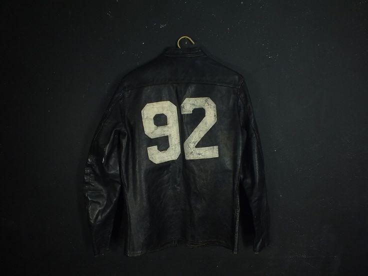 Vintage Buco J 100 Leather Jacket Michigan Back Motorcycle